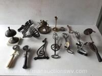 Ice cream scoops, egg beaters, lamp holders, bell