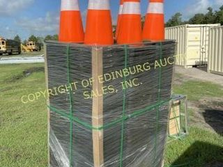 BRAND NEW CRATE OF 250 SAFETY HIGHWAY CONES
