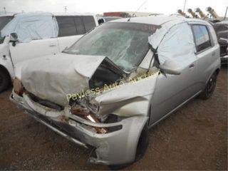 2005 Chevrolet Aveo KL1TD62685B364336 Gray