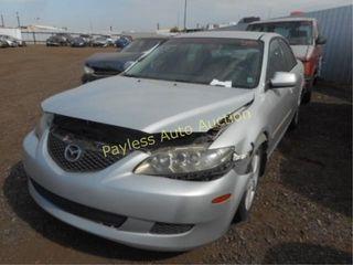 2004 Mazda Mazda6 1YVFP80D245N13650 Silver