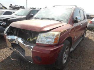 2005 Nissan Armada 5N1AA08A65N733853 Red