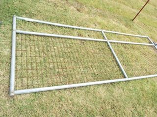 12IJ Wire filled gate  no paint  top rail bent