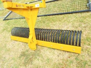 Country Line Rock Rake, 6?, New, bent hitch attach