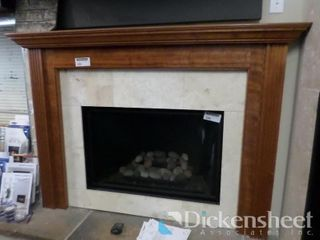 "Wood Pillars Mantle, 47"" W, Floor Model Please"