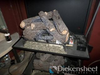 "18"" Burnt Rustic Oak Logs, Includes Burner and"