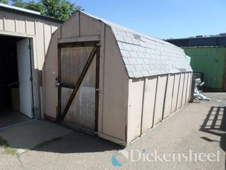 Barn Style Storage Shed Approximately 12' x 18'.
