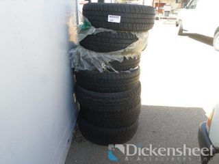 (7) Assorted Used Tires as photographed. One bid