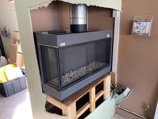 BIDORE 95 LEFT CORNER FIREPLACE