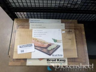 (2) Broil King Cutting Boards, (1) Cedar Grilling