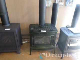Waitsfield DX DV Gas Stove, Basil Enamel, Retail