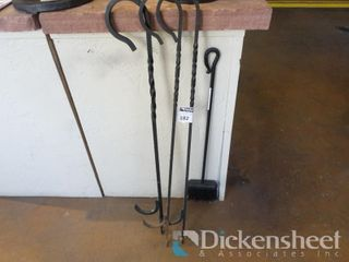 Fireplace Pokers, Includes Brush