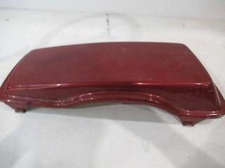 H D Saddle Bag lid Red