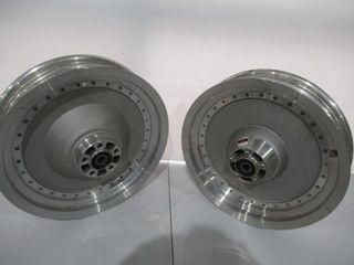 Pair of Fat Boy Wheels  Rotor Very Small