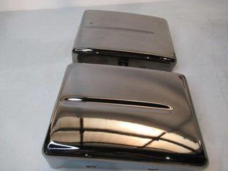 Pair  Same  Black Chrome Side Covers