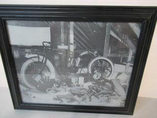 Framed Indian Motorcycle Image