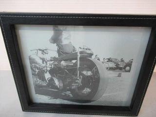 leather Framed Drag Bike Picture