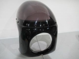 Black Bubble Fairing with 7  Headlight Opening