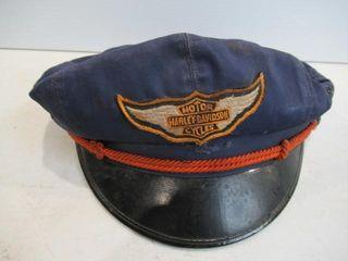 1950 s Original H D Riding Cap Blue Good Condition
