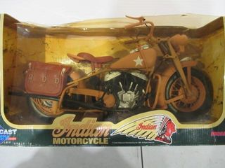 Indian Army Motorcycle Model 1 6 Scale in Box