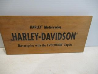 Harley Wood Sign  Evolution  13  x 6