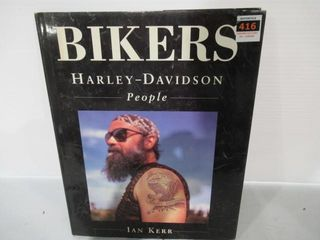 Book Hard Cover  Bikers  Harley People