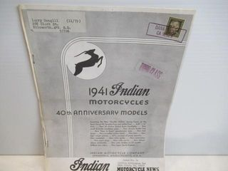 Paper Indian Motorcycle New Models 1941