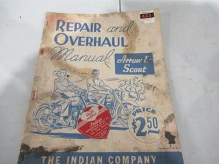 Indian Scout Arrow Repair   Overhail Manual  Twins