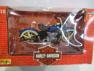Harley Knucklehead in Box Die Cast with Plastic
