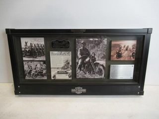 Harley Commemorative  Pastic  Military Model Bike
