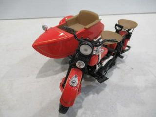 H D 1933 Die Cast Motorcycle   Sidecar with Cert