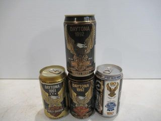 4 Harley Beer Cans Unopened