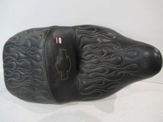 Custom Flame Stiched Fl Seat
