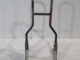 H D  Tall Chrome Backrest  No Pad