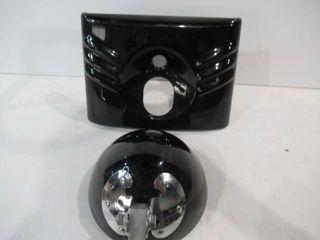 Fat Boy Black Tins Headlight Bucket Heritage