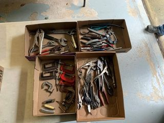 Tools, Vise Grips, C-Clamps, Pliers