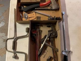 Tools, Axe, Pipe Wrench