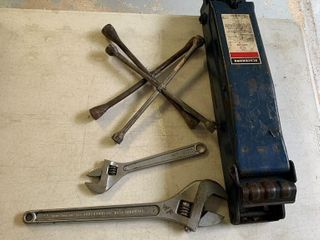 2 Cresent Wrenches, 4-Way Wrench
