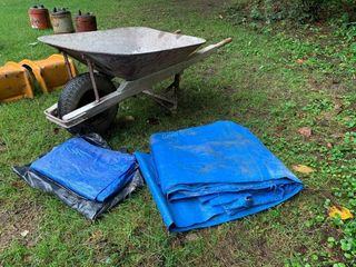 Wheelbarrow & Tarps