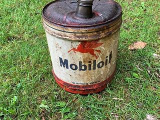 Mobil Oil 5 Gal. Can