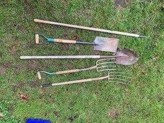 2 Forks, 2 Shovels, Rake