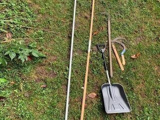Roof Rake, Apple Picker, Shovel