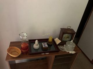 Mantle Clock , Vase
