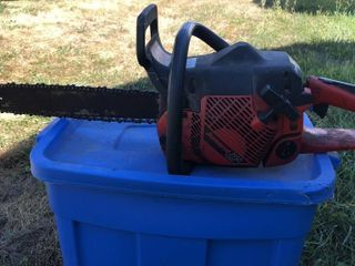 Multiple tool lot: Jonsered chainsaw, bush trimmer