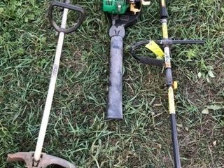 Weed eater, blower, brush cutter