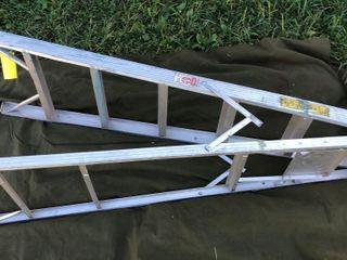 Ladder lot: Wood ladder, 6 ft aluminum ladder