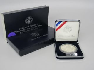 2000-P US Library of Congress $1 Silver Proof Set