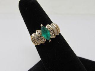 14kt Gold Emerald & Diamond Ring * Appraisal*