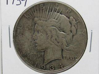 1934-D US Peace Dollar