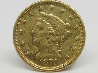 1878 Liberty Head $2.50 Gold Quarter Eagle Estate