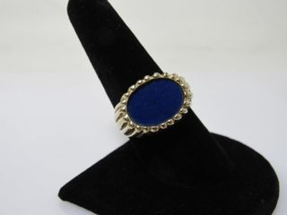 14k Gold Ring with Oval Stone